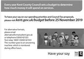 Have Your Say on Spending Priorities - Kent County Council Budget Consultation 2020-21